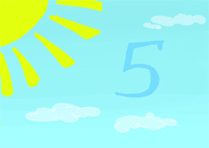 """Сказка про цифру 5 из книги """"Учимся считать"""" автор Ирина Караваева"""