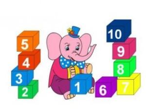 цифра 1 слоник