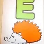 поделка буква Е